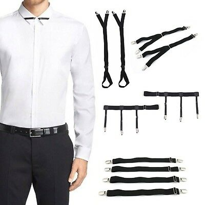 Military Unifrom Shirt Stay Shirt Holder Sock Garter Straight, Stirrup, Y Style