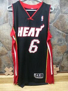 Details about Adidas Miami Heat Lebron James Jersey 6 Mens Size XL NICE! (BB)