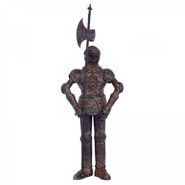 Rüstung Ritter mit Hellebarde Dekoration Mittelalter Haus Garten Terrasse Metall