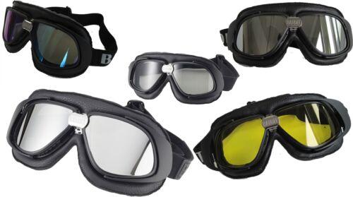 BANDIT Occhiali Moto Occhiali PELLE NERO Occhiali da sole jethelme occhiali da aviatore