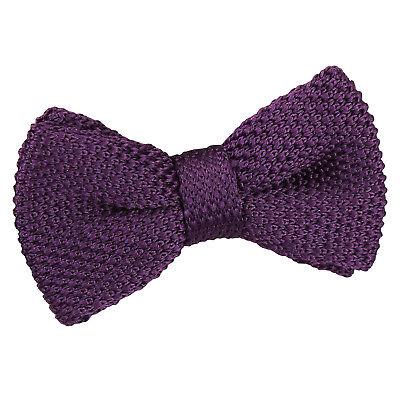 Laborioso Dqt Knit A Maglia Plain Cadbury Viola Casual Regolabile Pre-legato Ragazzi Papillon-