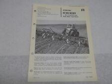 International Farmall 80 Rod Weeder Sales Brochure