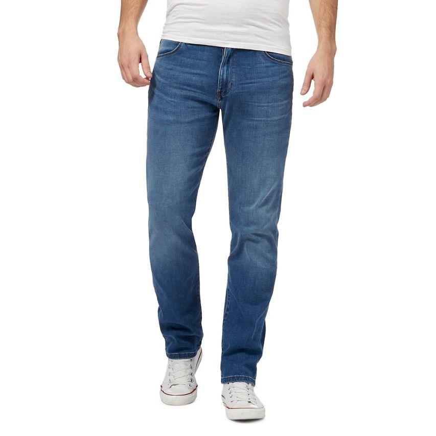 WRANGLER blu  Arizona al di là  Lavaggio Medio Jeans Gamba Dritta W38 L32 TD081 DD 07