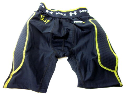 BOYS LARGE BLACK//YELLOW NEW UNDER ARMOUR NO TOLERANCE MPZ BOTTOM SIZE YOUTH