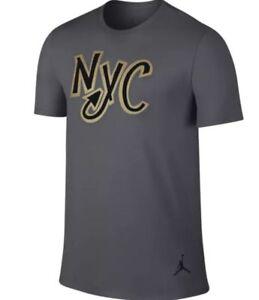 New-Men-039-s-Air-Jordan-NYC-City-Collection-Tee-Shirt-820206-021-Dark-Grey