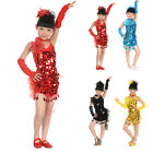 Latin Girls Dresses Samba Salsa Dance Dress Dance Costumes Tutu Skirts S/M/L