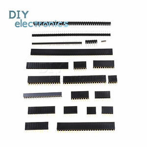 Pin Header Socket 2.54mm 40Pin Round Single//Double Row Male//Female Straight BBC