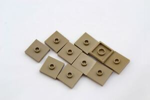 New LEGO Lot of 8 Dark Tan 1x2 Plate Pieces