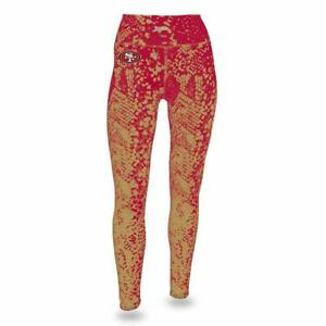 Forceful Zubaz Nfl Women's San Francisco 49ers Logo Leggings Excellent Quality Fan Apparel & Souvenirs