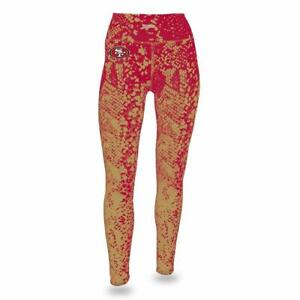 Forceful Zubaz Nfl Women's San Francisco 49ers Logo Leggings Excellent Quality Leggings Clothing, Shoes & Accessories