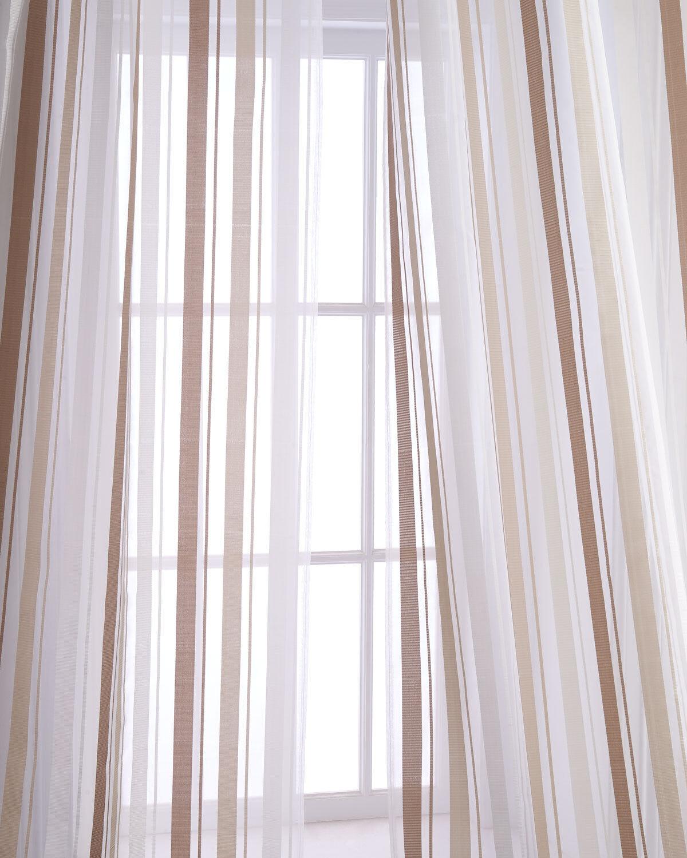 Devon 100% silk organza stripe drape by Neiman Marcus