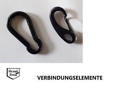 Schnapphaken 1stk Titanstahl Wirbelkarabiner Karabinerhaken Augwirbelhaken 32mm