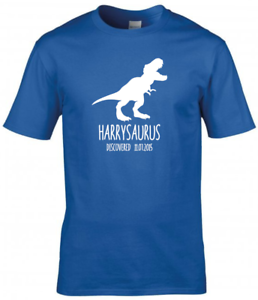 Kids Personalised Dinosaur T-Shirt  Boys Girls T-Shirt Kids Tee Top