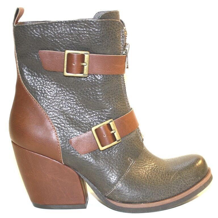 Para Mujer Zapatos Zapatos Zapatos korks por KORK-EASE Richards Corto botas Cremallera Hebillas De Cuero gris 5cfb6c