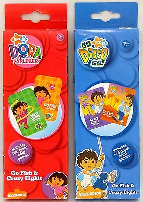 2 Pack Playing Cards Go Fish and Crazy Eights Card Game DORA THE EXPLORER