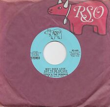 DEREK AND THE DOMINOES Why Does Love Got To Be So Sad rare promo 45 ERIC CLAPTON