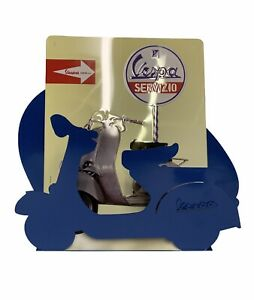 "New Vespa Blue Magazine Rack Newspaper Books Holder 11"" x 18"""