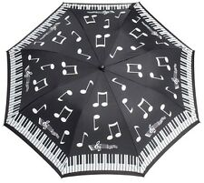 Clifton Piano Keys Music Note Black and White Keyboard Compact Folding Umbrella