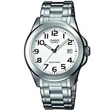 Casio Uhr MTP-1259PD-7B Herren Armbanduhr Edelstahl Weiß Silber Watch NEU & OVP