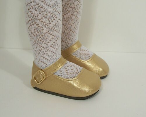 """Debs GOLD Basic SM Doll Shoes For Sonja Hartmann 18/"""" Kidz n Cats"""