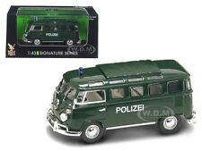 1962 VOLKSWAGEN MICROBUS VAN BUS POLICE 1/43 MODEL BY ROAD SIGNATURE 43210