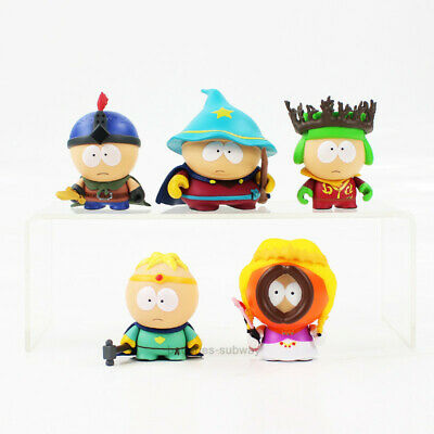 Lot 5 Figurines South Park Cartman Kyle Stan Kenny Butters Collection Jouet PVC