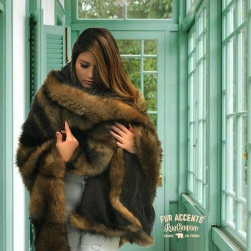 Minky Doublure or Gray Wolf Consolateur couverture lancer Peluche fausse fourrure couvre-lit