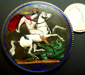 S523-A-1887-Queen-Victoria-Silver-Crown-Quality-Enameling-Outstanding