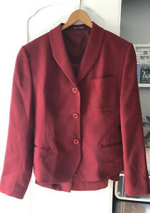 Austin Reed Women S Skirt Suit Red Jacket Size 12 Skirt Size 12 90 Wool Ebay