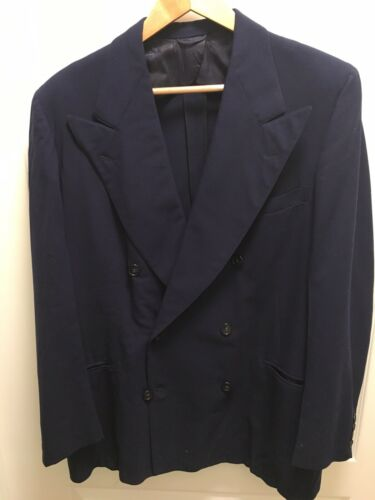 Vintage 1930s 1940s Suit Jacket Blazer Tapered Wai