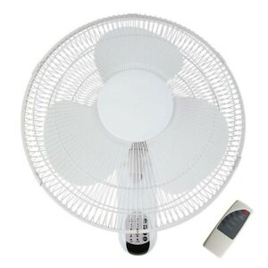 Heller 40cm Wall Mounted 3 Speed Air Cooling Fan w/ Remote Control/Timer White