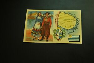 Vintage-Cigarettes-Card-URUGUAY-REGIONS-OF-THE-WORLD-COLLECTION