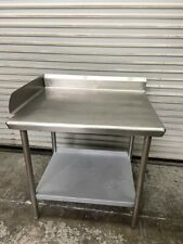 36x30 Corner Work Table All Solid Stainless Steel Prep Top Amp Lower Shelf 6573