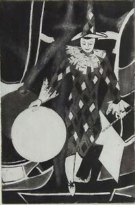 Ancienne-gravure-sur-papier-034-Arlequin-034-French-engraving
