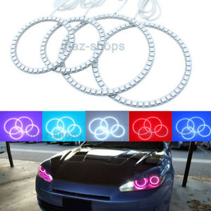 Details About Multi Color Rgb Headlight Angel Eyes Halo Rings Light For Hyundai Tiburon 03 06