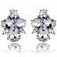 Fashion Women Rhinestone Crystal Water Drop Flower Ear Stud Earring  Jewelry Hot
