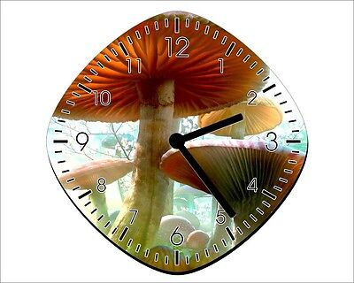 Alice In Wonderland Mushrooms - Wall Clock