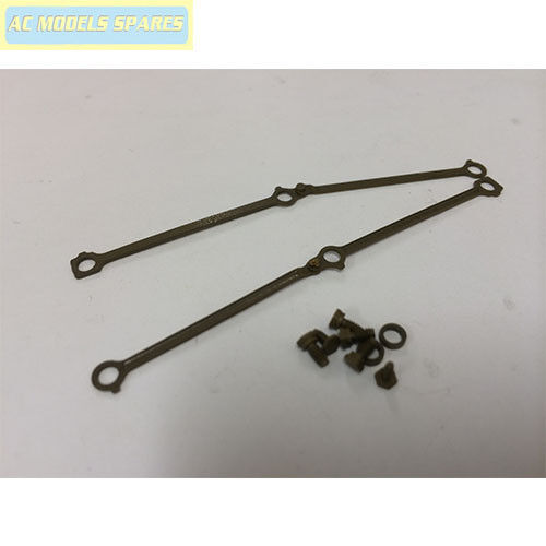 X9766W Hornby Spare COUPLING RODS for 2-6-4T WEATHERED