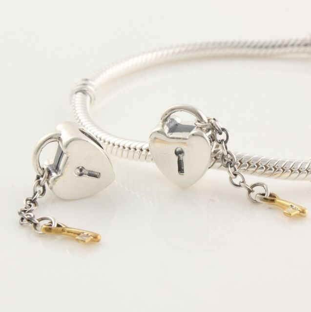 LOVE LOCKET 925 Sterling Silver Solid Charm Bead for Bracelet