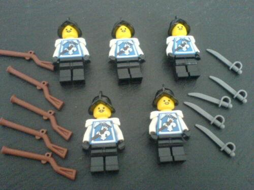 Piraten Lego 5 Spanier mit Waffen - Rotröcke Blauröcke 1