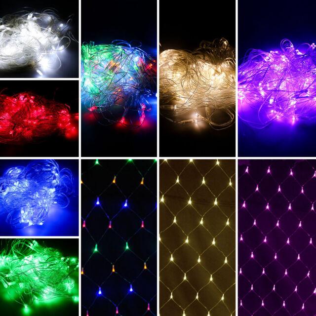 4x6M 880 LED Lichternetz Lichtervorhang Lichterkette Außen tsbeleuchtung