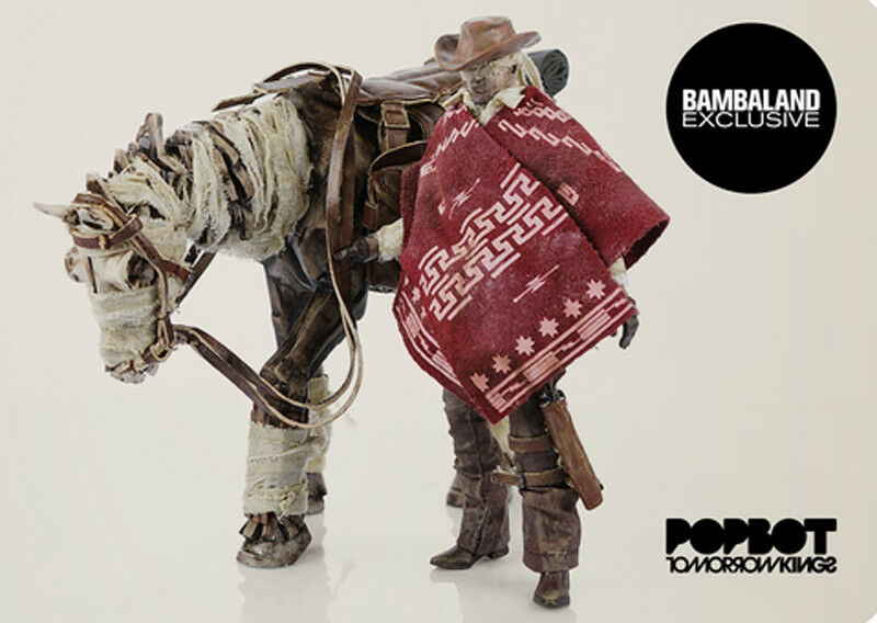 ThreeA 3A Portable Blind Cowboy & Ghost Horse Set 1 12th Scale Action Figure
