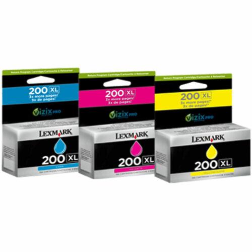 Lexmark Genuine 200XL B C M Y Ink Cartridges Pro 4000 5000 5500