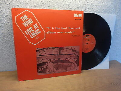 THE WHO LIVE AT LEEDS 1970 EXTREM RARE ISRAELI RED COVER VERSION