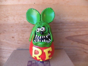 Rat Fink Shift Knob Custom Car Auto Mobile Figure Green