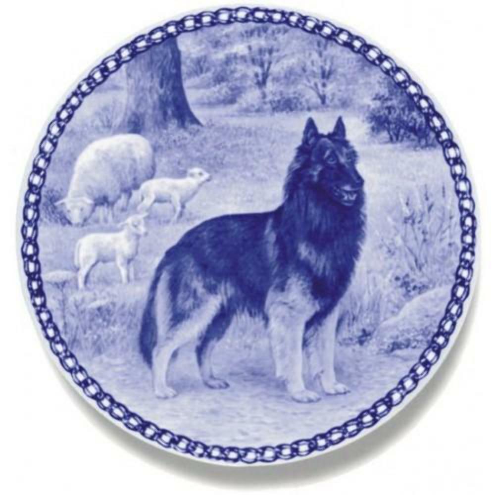Belgian Tervuren - Dog Plate made in Denmark from the finest European Porcelain