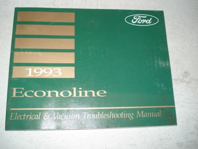 1993 Ford Econoline Van Wiring Diagrams Service Manual Shop Book