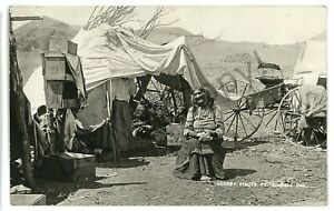 RPPC Old PAIUTE INDIAN Fort FT BIDWELL CA Native Americana Real Photo Postcard