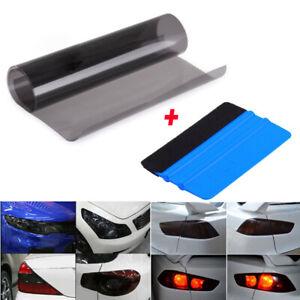 Gloss-Light-Black-Smoke-Vinyl-Film-Tint-Headlight-Taillight-Wrap-Cover-Universal