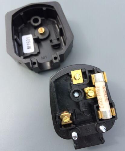 2 X Genuine MK Duraplug 13 Amp Heavy Duty Tuff Rubber UK 240v Mains Plug BLACK